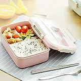 Lonchera Set Fresh Box Snap Lunch Box,Contenedor de Almacenamiento de Alimentos sellable Madera Japonesa Bento Box Contenedor de Almacenamiento Picnics O Camping