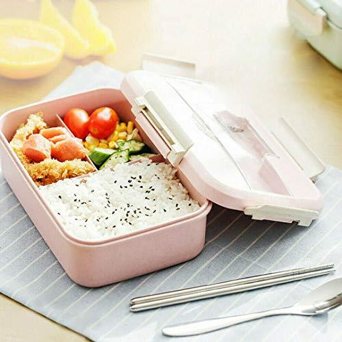 Lunch Box Termico Set Bento Box Portatile Isolato Set Posate Impilabili Contenitore Isolato,Contenitore per Alimenti Cucina Fresca Contenitori per Il Pranzo per Adulti Zoo Lunchie