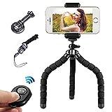 Mini Flexibel Handy Stativ iPhone Stativ mit Bluetooth Fernbedienung für Kamera und Smartphone wie...