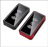 SIPAK 20000mAh Solaire Portable Chargeur de Batterie Externe de Charge sans Fil Rapide Pack 4 Ports USB et 3 entrées, Compatible avec l'iPhone, Les téléphones Android et tablettes (2 Pcs)