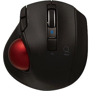 Digio2 トラックボールマウス 小型 Bluetooth 5ボタン ブラック Z8372