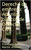Derecho de empresa: Apuntes básicos de Derecho Civil.