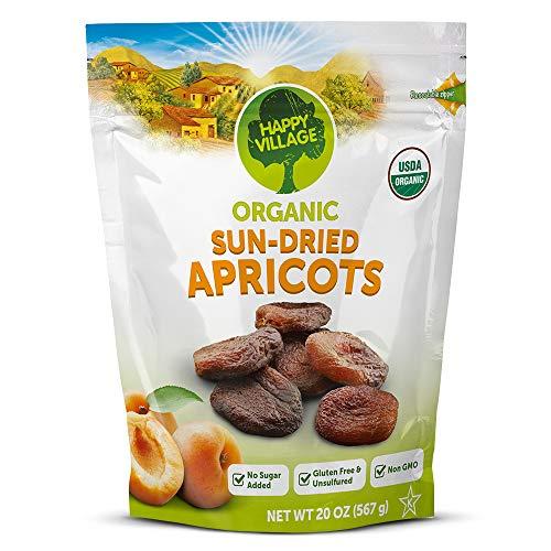 Organic Sun-Dried Apricots Unsulfured - 1.25 lbs. (20 oz)