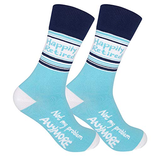 FUNATIC Happily Retired Not My Problem Anymore Dress Socks for Men and...