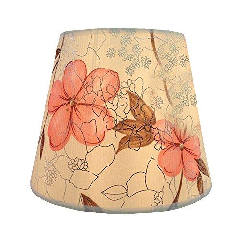 Eastlion Einfache moderne manuelle PVC-Lampenschirm für Tischleuchte, Wandleuchte, Nachttischlampe, Stehlampe mit E27 Lampenhalter Lampenschirm 14x22x17cm Pink Rose