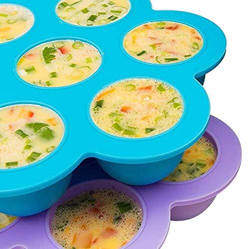 Timstore [2er Pack Silikon-Ei beißt Formen Schnellkochtopf-Zubehör Einsätze von Sensible Needs - für 5, 6, 8 qt Schnellkochtopf, Gefrierschrankzubehör, Instant Sous Vide-Eierkocher-Ring Lebensmittel