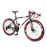 OVINEE Bicicleta de montaña,Bicicleta Plegable de 20 pies para Adultos y Teens Unisex,Bicicleta de montaña Color Arcoiris 26 Pulgadas,Mountain Bike (E)