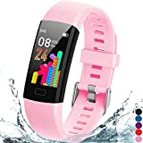 Inspiratek Kids Fitness Tracker for Girls and Boys Age 5-16 (4 Color)- Waterproof Fitness Watch for...