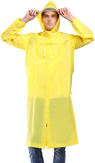 レインコート シングルトラベル透明環境保護EVAレインコート大人の屋外ハイキングスーツ防水ユニセックス長い厚いレインコートポンチョ(5色オプション) 成人用レインコート (色 : 黄, サイズ さいず : L l)