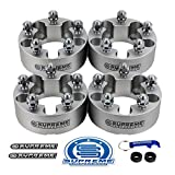 Supreme Suspensions - 4pc 1.5' Wheel Spacers Kit for 2001-2010 Ford Explorer Sport Trac 2WD 4WD 5x4.5' (5x114.3mm) with 1/2'x20 Studs 82.5mm Center Bore [Silver]