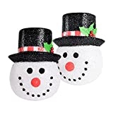 INAROCK Christmas Porch Light Covers, 2 Pack Snowman Holiday Light Cover for Outdoor Christmas Decorations