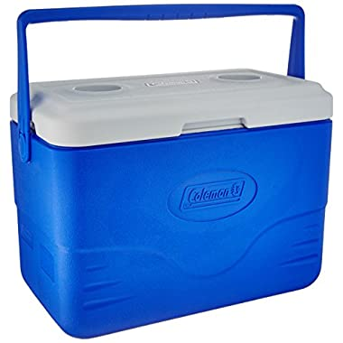 Coleman 28-Quart Cooler With Bail Handle, Blue