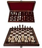 Tablero de ajedrez plegable de madera con almacenamiento | Juego de ajedrez | Hecho a mano | Edición de lujo | Piezas de ajedrez de madera | 40 x 40 cm | Comprar juego de ajedrez