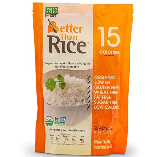 Better Than Rice. Certified Organic. Zero Carb, Keto Friendly, Vegan, Gluten-Free, Non-GMO, Konjac Rice 14 Ounces (6 Pack)