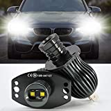 LED Luces Halo Anillo Marcador Bombilla,20W LED Faros Angel Eyes DRL CANBUS No hay error c...