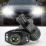 LED Luces Halo Anillo Marcador Bombilla,20W LED Faros Angel Eyes DRL CANBUS No hay error con Marca CE para E90 E91