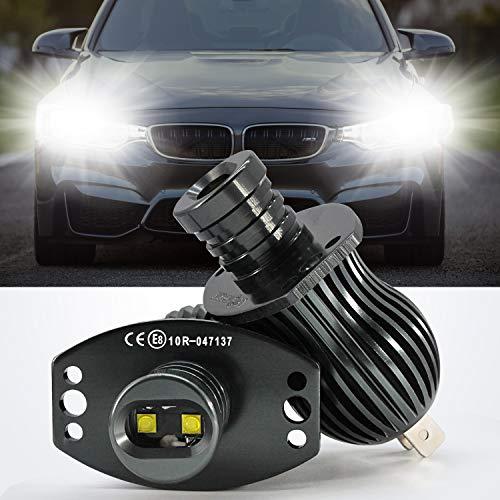 YuanGu LED Angel Eyes Lichter, Auto-Halo-Ring-Markierungsbirnen, Tagfahrlicht, CREE 20 W, Xenon-Weiß, mit CE-Kennzeichnung, CAN-Bus, fehlerfrei für E90 E91