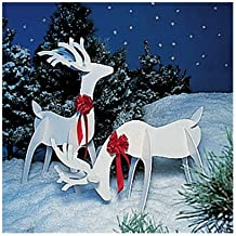 A Full Size Woodworking Pattern and Instructions to Build a Holiday Reindeer Yard Art Project