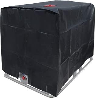ECD Germany Lona para Tanque Agua IBC - 120x100x116cm - 1000 l - Copertina Protectora para contenedores - Protección Ideal Ante Rayos UV - Tanque de Lona Impermeable - Cubierta de Lona