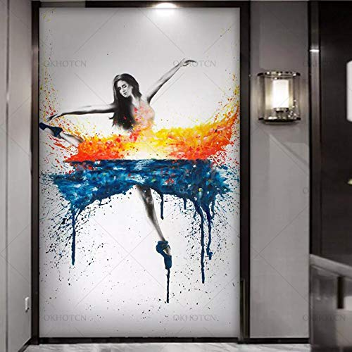 HD-Druck Elegante tanzende Ballerina Ölgemälde Wandkunst Große Leinwand Malerei Multi-Choice 40x50cm