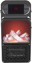 Stoves Calefactor eléctrico de Chimenea, Calefactor de Llama de simulación 3D, Calefactor portátil de Escritorio, protección contra el sobrecalentamiento, Ahorro de energía silenciosa