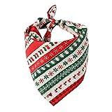 POIUY Petswear De Navidad La Decoración De Materiales De Construcción Baberos Fuentes del Perro Y El Gato,Rayas De La Navidad,Formato