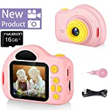 hyleton Kids Camera – 1080P Children Digital Video Cameras for Boys and Girls – Birthday Toys Gifts for Ages 4 5 6 7 8 9 10 Year Old – Compact Camera Toddler Video Recorder IPS 2 Inch - Pink