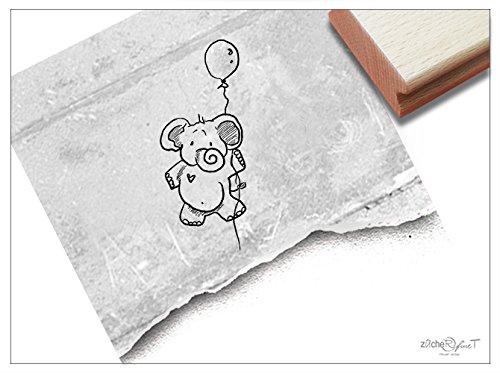 ZAcheR-fineT Stempel, kinderstempel, olifant met ballon, motief stempel, cadeau voor kinderen, schooldagopschool, knutselen, decoratie