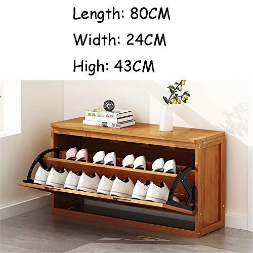 QHGao Ultradunne multifunctionele schoenenkast met minimalistische verandaerkast, de eenvoudige schoenenkast leegt, multifunctionele houten schoenenopbergtafel