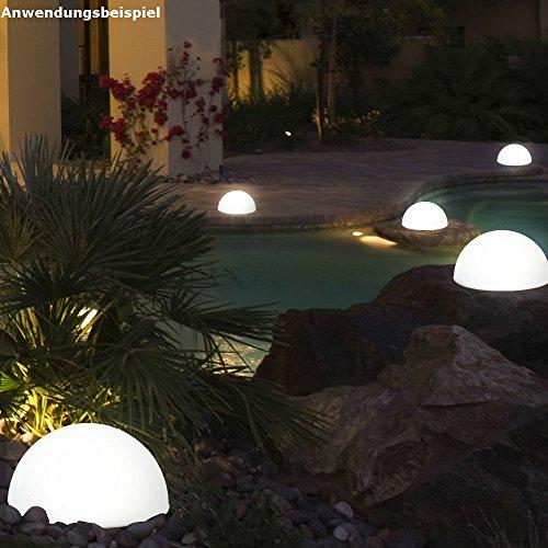3er Set LED Solarleuchte Kugelform Außenleuchte Gartenleuchte Lampe Leuchte