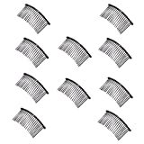 Pomeat Black Iron Vintage Fashion Hair Comb Pin for Women Lady, 10 PCS