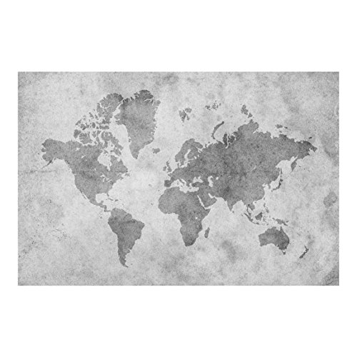 Bilderwelten Fotomural - Vintage World Map II - Mural apaisado papel pintado fotomurales murales pared papel para pared foto 3D mural pared barato decorativo, Dimensión Alto x Ancho: 290cm x 432cm