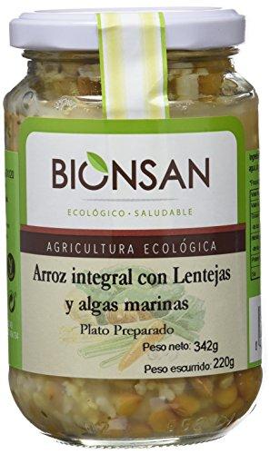 Bionsan Arroz Integral con Lentejas y Algas Ecológico   6 Botes de 220 gr   Total: 1320 gr