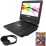 SYLVANIA Portable DVD Player 7' Swivel Screen Black (SDVD7027) + Bluetooth...