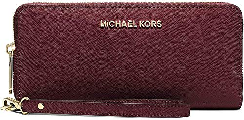 Michael Kors Jet Set Travel Large Multifunction Phonecase Wallet/Wristlet - Merlot