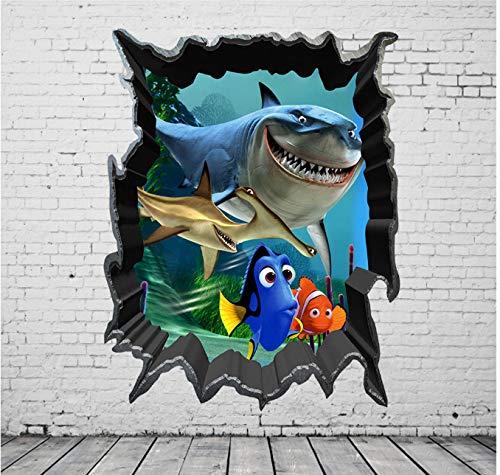 Home Room Decor Art Wandtattoo Aufkleber Schlafzimmer Abnehmbare Findet Nemo 3D View Art Wandtattoo Kids