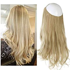 the halo hair extension with wire,lighter and more comfortable without clips ,and really easier to apply and remove without any extra help in a few minutes.now we have improved the product,can be adjustable the size for your head,new and old products...