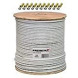 Bild des Produktes '250m 135dB Koaxial SAT Kabel Antennenkabel Koaxkabel 4-Fach abgeschirmt für DVB-S / S2 DVB-C und DVB-T BK Anlagen a'