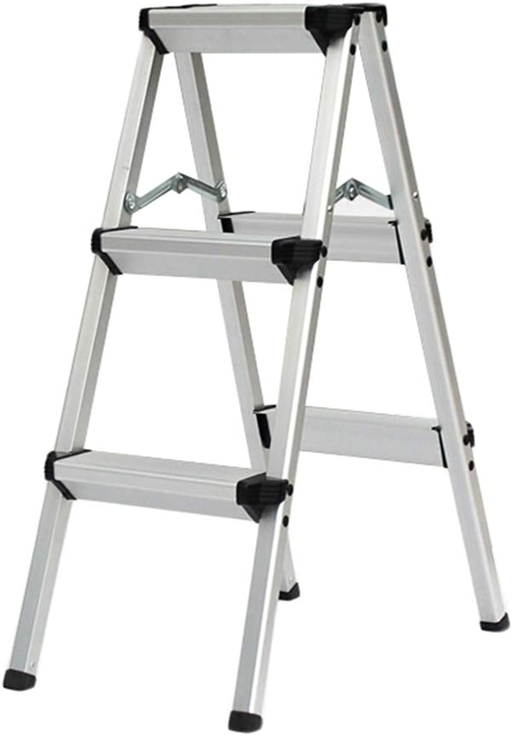 Portable Ladder Stool 3-Step Stools Easy to Store Foldable Design Ideal for Home Kitchen Garage (color   Black, Size   3 Steps)