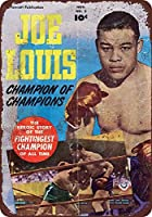 ブリキ看板1950ジョールイスボクシングコミックチャンプUSAコレクティブルウォールアート