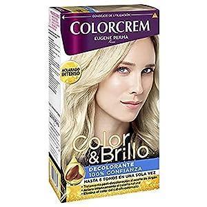 Colorcrem Color & Brillo Decolarante - Aclara Hasta 6 Tonos en Una Sola Vez - con Tratamiento Post-Decoloración al Aceite de Argán, Elimina el Color del Cabello Coloreado, 3 Unidades