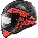 LS2 Motorradhelm RAPID DEADBOLT Mat, Schwarz/Orange, Größe L