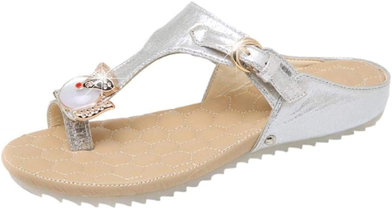 Lady Sandals Fashion Women Sandals Summer Boom shoes Wedges Weave Middle Heel Flip Flops Casual Flat shoes Sandals Non-Slip Sandals