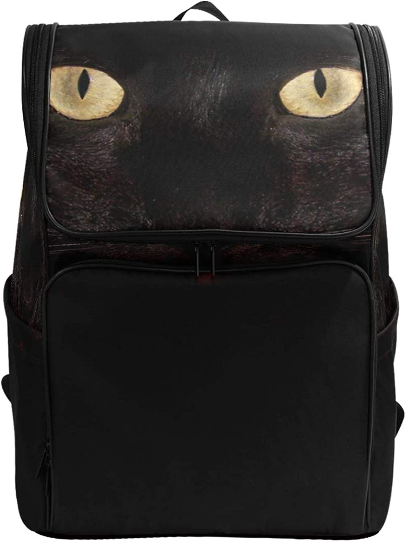 FANTAZIO Black Cat Laptop Outdoor Backpack Travel Hiking Camping Rucksack Pack, Casual Large College School Daypack
