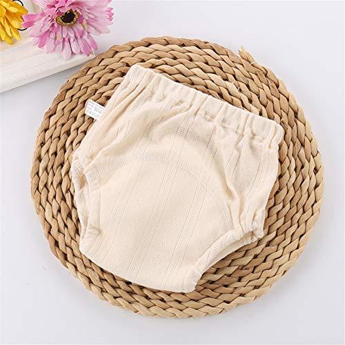 Ocamo Pantalon d'apprentissage imperméable pour Enfant 4 Couches Gaze Pantalon de Sport Respirant Lavable, Creme Farben, 100#