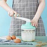 Batidora de huevos manual que ahorra mano de obra, batidora de huevos manual antideslizante estable, segura, para el hogar, para el restaurante del chef de cocina