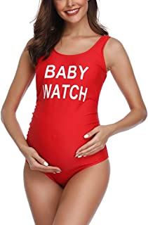 traje de baño talla grande premamá embarazada top señora brasileña comodo oferta barato verano 2019 Todo de Rojo
