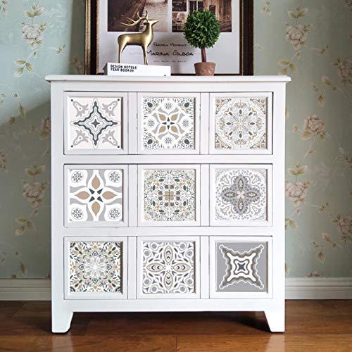10 pegatinas para azulejos impermeables para baño o cocina, autoadhesivas, mosaico, mármol, Morroco, decoración de ladrillos
