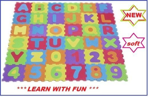Soft Alphabet and Number Jigsaw Puzzle Play Mat by EVA Soft Foam [Toy]