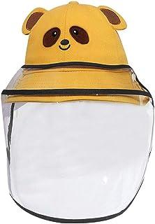 Meliya Cute Bear Sombrero de sol unisex para bebé con escudo de cara desmontable para niños de dibujos animados de pescador sombrero de verano gorra de playa
